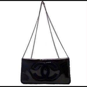 Chanel Black Beauty Cross body Clutch Bag VIP Gift